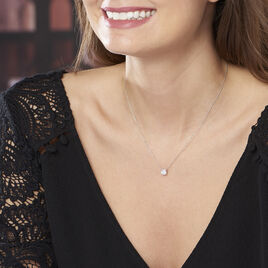 Collier Naziha Or Blanc Oxyde De Zirconium - Bijoux Femme   Histoire d'Or