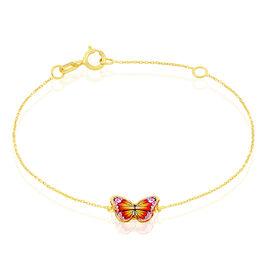 Bracelet Sulivia Papillon Or Jaune - Bracelets Baptême Enfant | Histoire d'Or