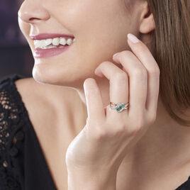 Bague Simma Or Jaune Diamant Et Emeraude - Bagues avec pierre Femme | Histoire d'Or