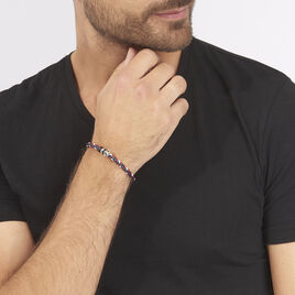 Bracelet Axel Acier Blanc - Bracelets fantaisie Homme | Histoire d'Or