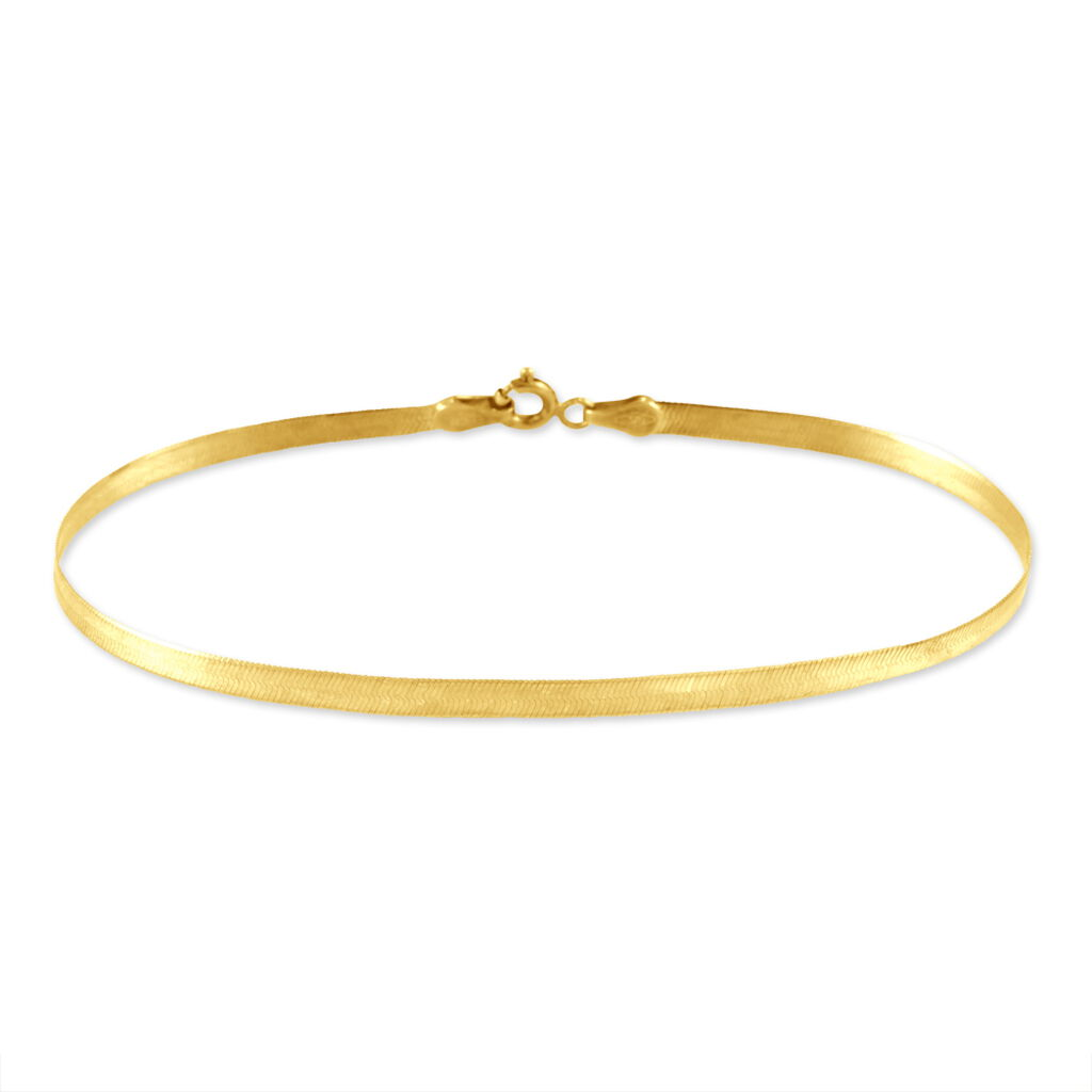 Bracelet Ivria Maille Heringbone Or Jaune - Bracelets chaîne Femme   Histoire d'Or