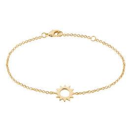 Bracelet Adelinda Plaque Or Jaune - Bracelets fantaisie Femme   Histoire d'Or