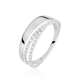 Bague Angele Or Blanc Diamant - Bagues avec pierre Femme   Histoire d'Or