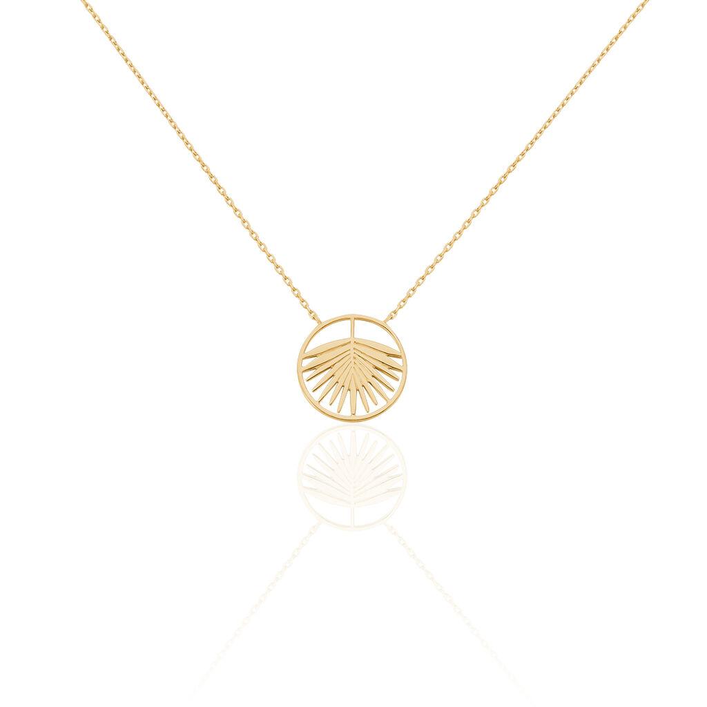 Collier Plamira Plaque Or Jaune - Colliers Plume Femme | Histoire d'Or
