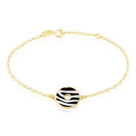 Bracelet Argent Dore Zengo Ronde Nacre Zebre - Bracelets fantaisie Femme | Histoire d'Or