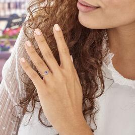 Bague Urana Or Blanc Saphir - Bagues solitaires Femme | Histoire d'Or