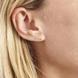 Boucles D'oreilles Or Jaune Vienne Oxydes - Boucles d'oreilles pendantes Femme   Histoire d'Or