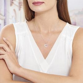 Collier Agata Argent Blanc - Colliers Coeur Femme | Histoire d'Or