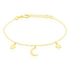 Bracelet Mayssoun Argent Jaune - Bracelets Lune Femme | Histoire d'Or