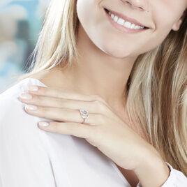 Bague Isabel Argent Blanc Oxyde De Zirconium - Bagues avec pierre Femme   Histoire d'Or