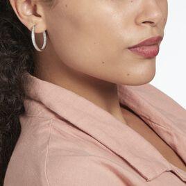 Créoles Albarinus Argent Rhodié Oxyde - Boucles d'oreilles créoles Femme | Histoire d'Or
