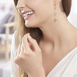 Boucles D'oreilles Pendantes Edinna Or Jaune - Boucles d'Oreilles Plume Femme | Histoire d'Or