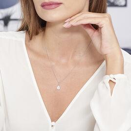 Collier Briony Argent Blanc Oxyde De Zirconium - Colliers fantaisie Femme | Histoire d'Or