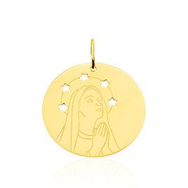 Pendentif Vierge Rond Or Jaune - Pendentifs Etoile Unisexe | Histoire d'Or
