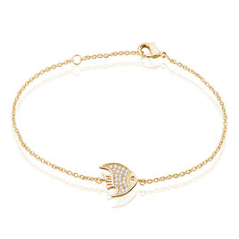 Bracelet Plaqué Or Jaune Oxyde De Zirconium - Bracelets fantaisie Femme | Histoire d'Or