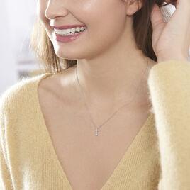 Collier Eloissia Or Blanc Diamant - Bijoux Ancre Femme | Histoire d'Or