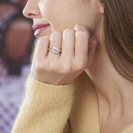 Bague Souad Plaque Or Jaune Oxyde De Zirconium - Bagues Plume Femme | Histoire d'Or