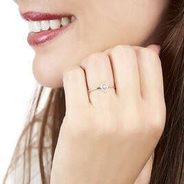 Bague Domitia Or Blanc Diamant - Bagues avec pierre Femme   Histoire d'Or