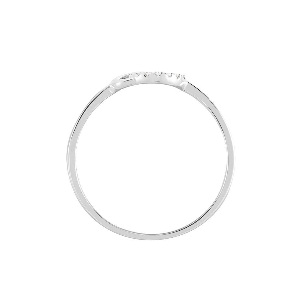 Bague Mahaut Or Blanc Diamant - Bagues avec pierre Femme   Histoire d'Or