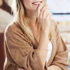 Bracelet Jonc Nalah Plaque Or Jaune - Bracelets fantaisie Femme   Histoire d'Or