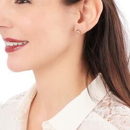 Boucles D'oreilles Puces Janice Plaque Or Jaune Oxyde De Zirconium - Boucles d'oreilles fantaisie Femme | Histoire d'Or