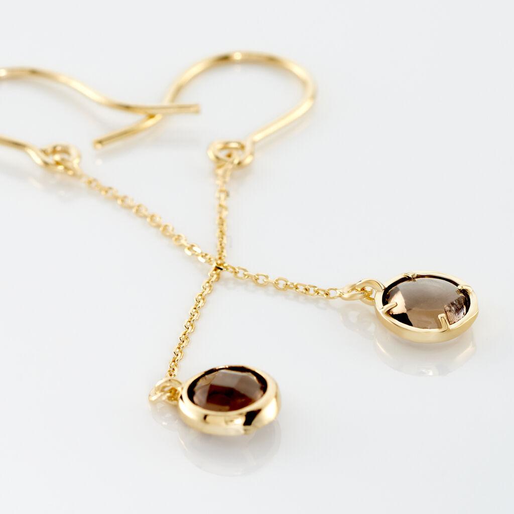 Boucles D'oreilles Pendantes Arenale Or Jaune Quartz - Boucles d'oreilles pendantes Femme | Histoire d'Or