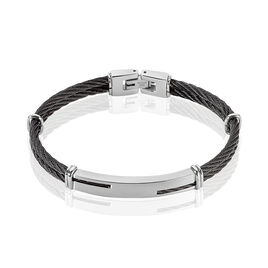 Bracelet Oscar Acier Blanc - Bracelets fantaisie Homme | Histoire d'Or