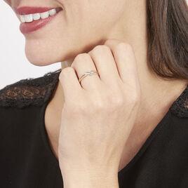 Bague Nina Or Bicolore Diamants - Bagues avec pierre Femme | Histoire d'Or