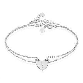 Bracelet Abrar Argent Blanc - Bracelets Coeur Femme | Histoire d'Or