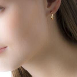 Créoles Valencina Flexibles Rondes Or Jaune - Boucles d'oreilles créoles Femme | Histoire d'Or