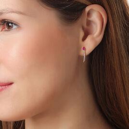 Bijoux D'oreilles Or Rose Saphir Et Diamant - Ear cuffs Femme | Histoire d'Or