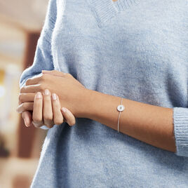 Bracelet Nyoko Argent Blanc Labradorite - Bracelets fantaisie Femme | Histoire d'Or