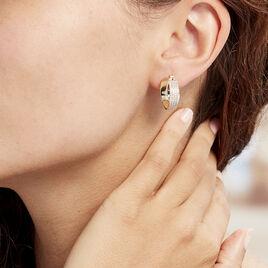 Creoles Plaque Or Adelicia Croisees - Boucles d'oreilles créoles Femme | Histoire d'Or