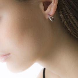 Creoles Argent Diamantee - Boucles d'oreilles créoles Femme | Histoire d'Or