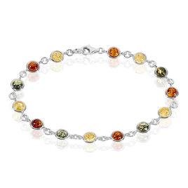 Bracelet Rosalie Argent Blanc Ambre - Bijoux Femme   Histoire d'Or