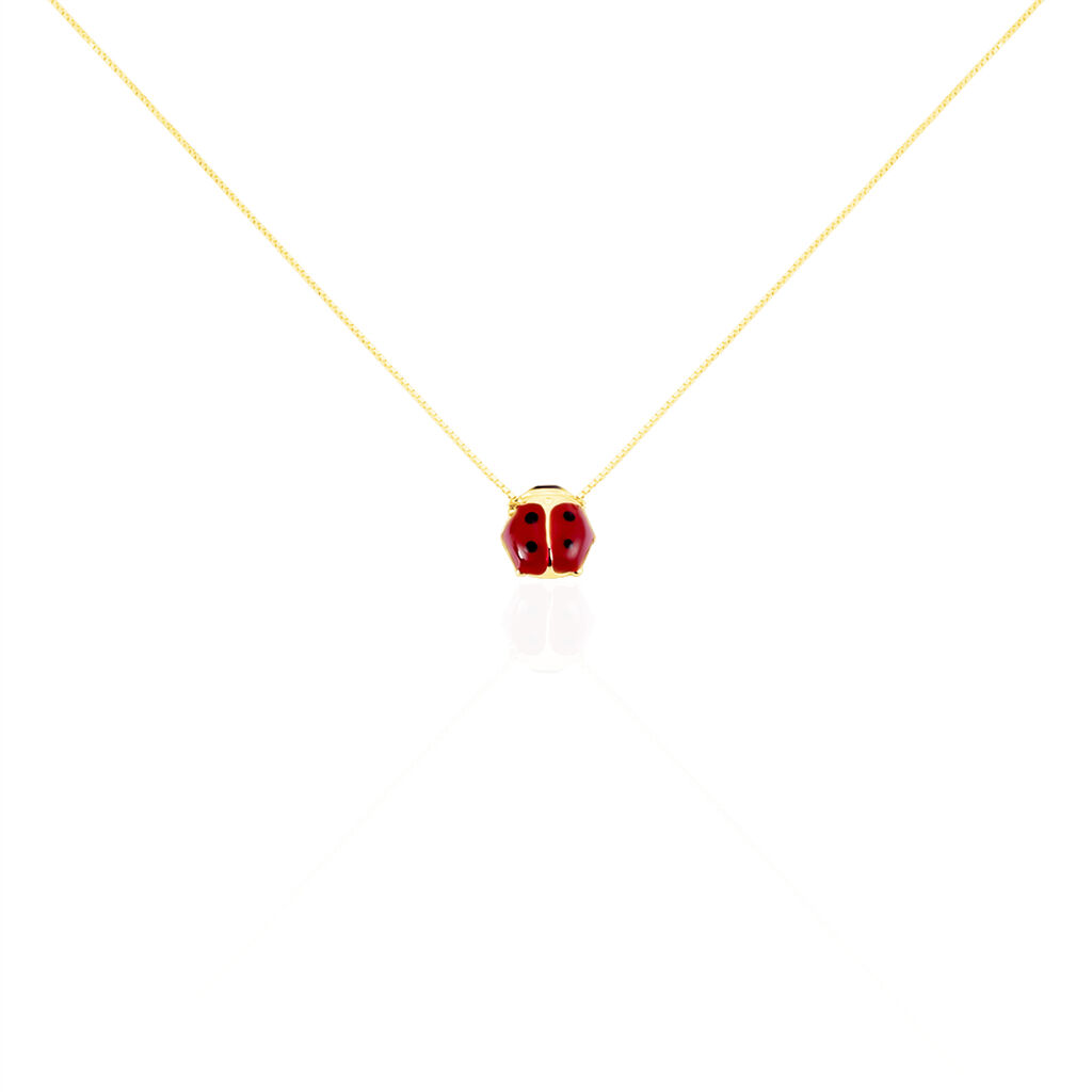 Collier Or Jaune Coccinelle
