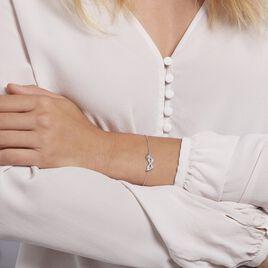 Bracelet Argent Rhodie Bartolomee Oxydes De Zirconium - Bracelets fantaisie Femme | Histoire d'Or