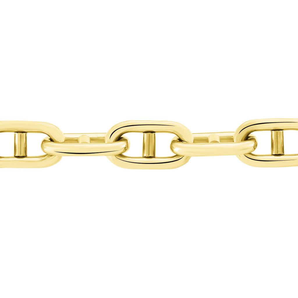 Bracelet Aidann Maille Marine Acier Jaune - Bracelets fantaisie Femme | Histoire d'Or