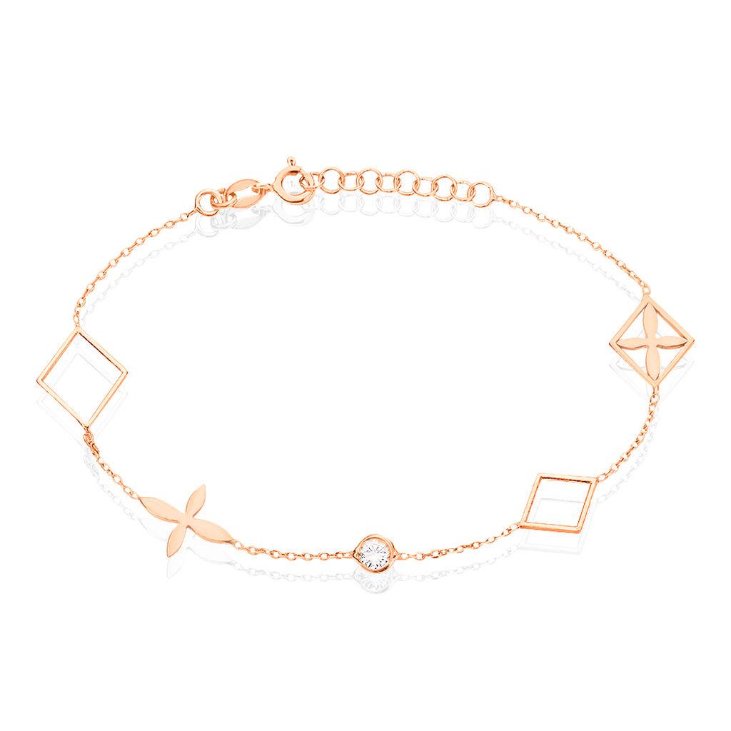 Bracelet Rosalia Argent Rose Oxyde De Zirconium - Bracelets fantaisie Femme | Histoire d'Or