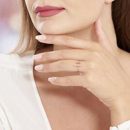 Bague Tea Argent Blanc Oxyde De Zirconium - Bagues avec pierre Femme | Histoire d'Or