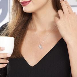 Collier Fanila Argent Blanc - Colliers fantaisie Femme | Histoire d'Or