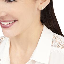 Boucles D'oreilles Puces Bresilae Or Jaune Perle De Culture - Clous d'oreilles Femme | Histoire d'Or