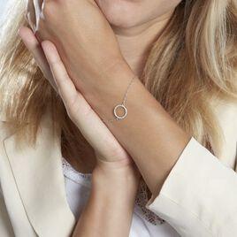 Bracelet Grâces Argent Blanc Oxyde De Zirconium - Bracelets fantaisie Femme   Histoire d'Or