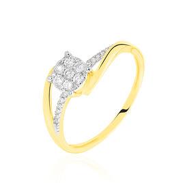 Bague Petunia Or Jaune Diamant - Bagues avec pierre Femme   Histoire d'Or