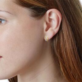 Boucles D'oreilles Puces Or Jaune Diamant - Boucles d'oreilles pendantes Femme | Histoire d'Or