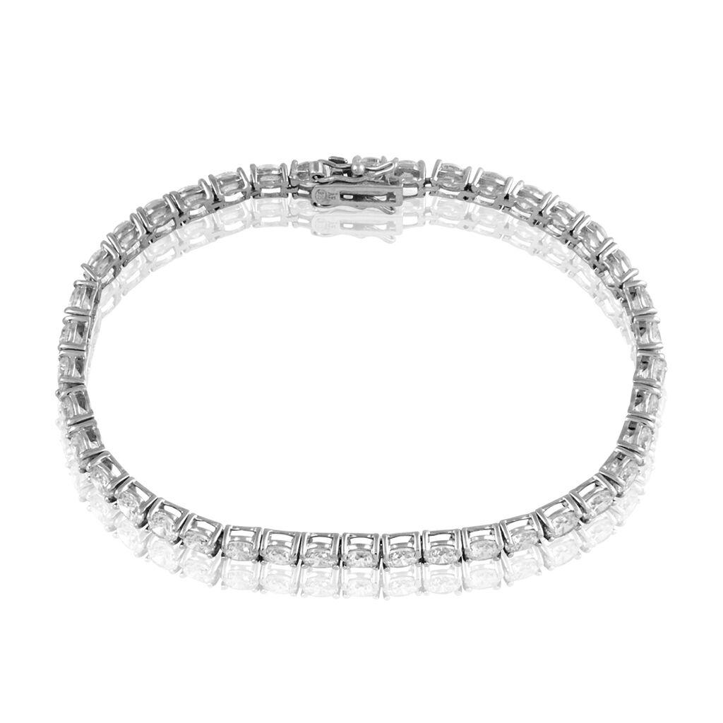 Bracelet Tennis Argent Blanc Oxyde De Zirconium - Bijoux Femme | Histoire d'Or