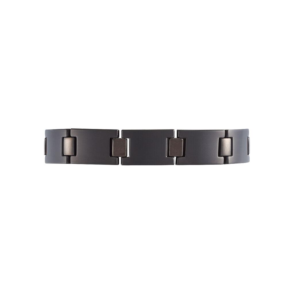 Bracelet Josua Acier Noir - Bracelets fantaisie Homme | Histoire d'Or