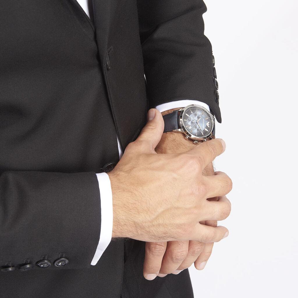 Montre Emporio Armani Renato Bleu - Montres Homme | Histoire d'Or