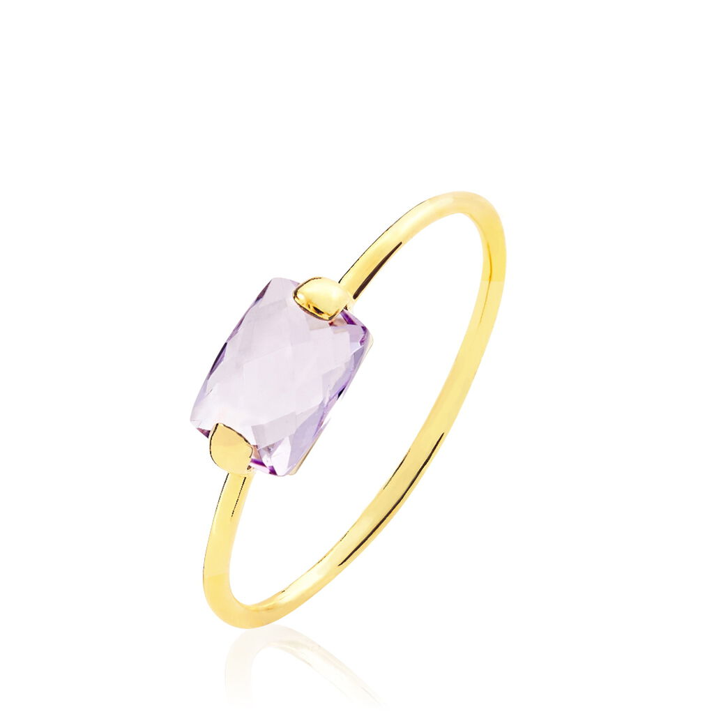 Bague Stella Or Jaune Amethyste