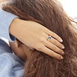 Bague Solitaire Maloe Plaque Or Jaune Oxyde De Zirconium - Bagues solitaires Femme | Histoire d'Or